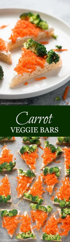Get your kids to eat their vegetables this Easter with these cute and easy to make CARROT VEGGIE BARS!