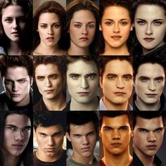 The Transformation of Bella Swan, Edward Cullen and Jacob Black  (Twilight, New Moon, Eclipse, Breaking Dawn Part 1 and Breaking Dawn Part 2)