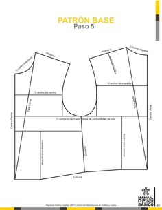 Manual de patronaje CMT - SENA Girl Dress Patterns, Dress Making Patterns, Coat Patterns, Sewing Patterns, Pattern Making Books, French Maid Dress, Modelista, Pattern Drafting, Jacket Pattern
