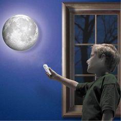 LED Light Moon Nightlight Wall Lamp Remote Control