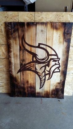 Vikings pallet sign Pallet Art, Pallet Signs, Custom Wood Signs, Wooden Signs, Minnesota Home, Minnesota Vikings, Viking Signs, Viking Decor, Fall Coloring Pages
