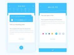 Daily Ui Day #020.  This is a daily note app.It focuses on the user's daily record of different notes.For example, words, pictures and recording…