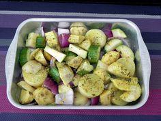 Legumes Assados com Molho de Limão