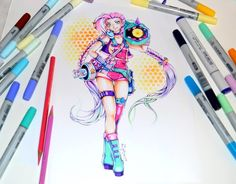 ArtStation - Arcade Jinx / League of Legends / Copic Marker, Lighane's Artblog
