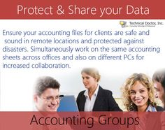 Ensure your accounting files for clients are safe and sound in remote locations and protected against disasters. Simultaneously work on the same accounting sheets across offices and also on different PCs for increased collaboration.