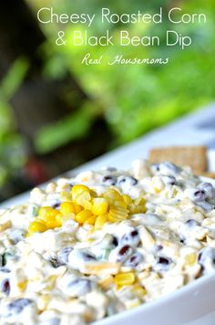 Cheesy Roasted Corn | Real Housemoms | #recipe #Corn #dip