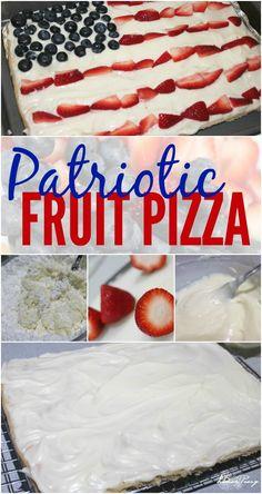 Patriotic Fruit Pizza Recipe!