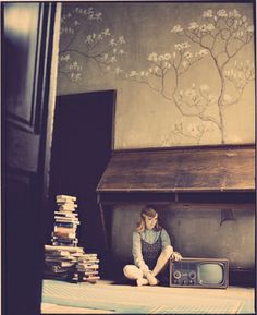 """Saatchi Art Artist Vikram Kushwah; Photography, """"Emily and the television - Limited Edition #3 of 8"""" #art"""