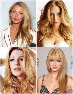 warm blond hairstyles - color