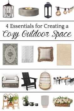 4 types of outdoor decor every porch, patio, and backyard needs to feel cohesive and inviting.