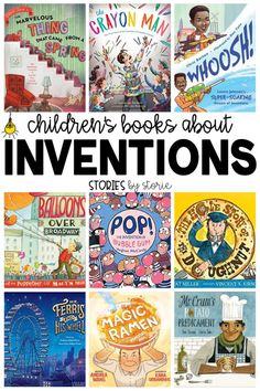 Do you have students who love to build, tinker, and create? These children's books about inventions are sure to spark their imaginations! Kids Reading, Reading Activities, Teaching Reading, Activities For Kids, Enrichment Activities, Reading Lists, Learning, Elementary Science, Upper Elementary
