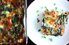 Butter Is Not a Carb | Spinach Mozzarella Egg Bake.  The perfect low carb vegetarian savory casserole for breakfast or dinner, or Christmas morning brunch!