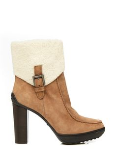 TOD'S Foldover Shearling Boot - $745
