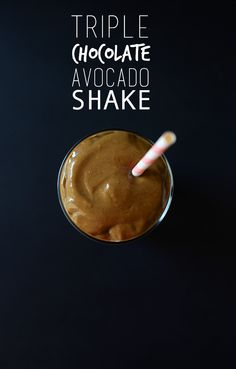 Triple Chocolate Avocado Shake