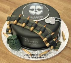 Call of Duty Ghosts birthday cake. Everything is edible!