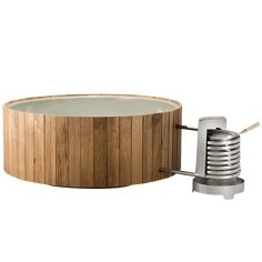 The Dutchtub Wood is heated by wood and only use natural circulation. The wooden design brings you closer to nature. Weltevree · Design products · Shop now Jacuzzi, Porches, Outdoor Tub, Outdoor Bathrooms, Holland House, Fire Basket, Casas Containers, Wood Planks, Wood Wood
