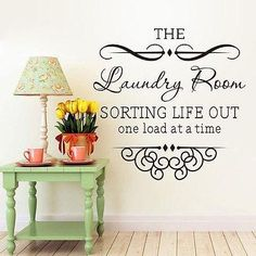 The Laundry Room Wall Sticker DIY Quote Words Decal Vinyl Art Room Decor Mural