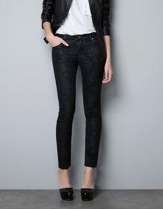 DENIM POWER BLACK PRINT - Jeans - Damen - ZARA Österreich