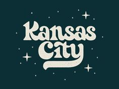Kansas City Lettering designed by Nathan Holthus. Connect with them on Dribbble; Design Logo, Lettering Design, Type Design, Branding Design, Vector Design, Print Design, Typography Inspiration, Graphic Design Inspiration, Typographie Fonts