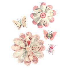 Bloemen muurstickers roze | Producten | Studio ditte