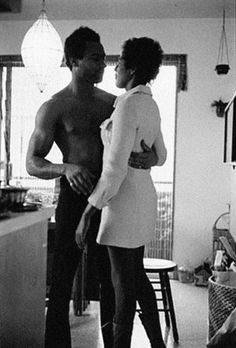 Huey P. Newton and Elaine Brown, co-founder and future chairwoman of the Black Panther Party — c. 1970s