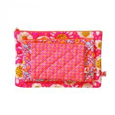 Set de 3 pochettes matelassées Pilipili Rose - Petit Pan - vivre en multicolore