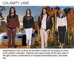 Top denim trends womens F/W 2013-14, girly cowboy