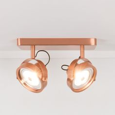 Applique/plafonnier design LED double Dice gris Led Lamp, Track Lighting, Spotlight, Ceiling Lights, Dice, Home Decor, Applique, Modern Lighting, Copper