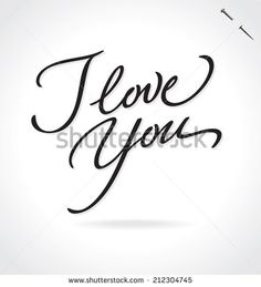 I LOVE YOU hand lettering -- handmade calligraphy, vector (eps8) - stock vector #download #stock #StockImages #microstock #royaltyfree #vectors #calligraphy #HandLettering #lettering #design #letterstock #silhouette #decor #printable #printables #craft #diy #card #cards #label #tag #sign #vintage #typography