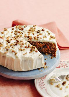 This is a softly spiced carrot cake with raisins steeped in sherry. A moreish and popular recipe that everyone should have in their repertoire.