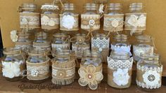Burlap Mason jar Rustic wedding Country by ClaudiasCuteCouture