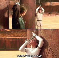 One thing to appreciate about the prequels is how BADASS they made Padme. It explains where Leia gets it.