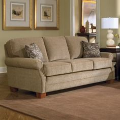 Charmant Charles Schneider Pick Taupe Fabric Sofa With Accent Pillows
