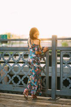 Denver Style Edit: Peach and Pepper Apparel. Summer Floral Maxi Dress