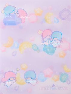 Little Twin Stars, Little My, Sanrio Characters, Hello Kitty, Twins, Wallpapers, Friends, Illustration, Cute