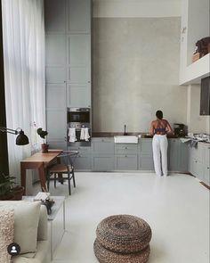 Home Decor Kitchen, Kitchen Interior, Interior Design Living Room, Home Kitchens, Living Room Designs, Interior Decorating, Interior Modern, Plan Studio, Design Studio