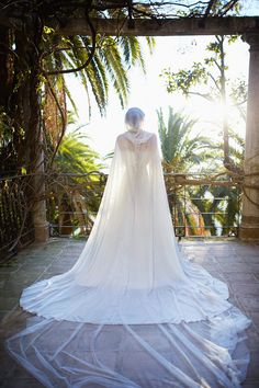 Hochzeit Braut Mantel weiß Elfenbein chiffon-Cape von CostureroReal