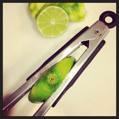 Busy in Brooklyn » Kitchen Tips To get the most juice from your citrus, squeeze between kitchen tongs.