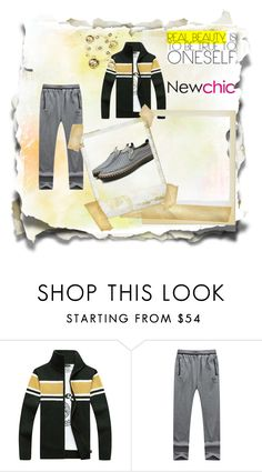 """""""Newchic Contest"""" by dinela-dinka ❤ liked on Polyvore featuring men's fashion, menswear, chic, New and newchic"""