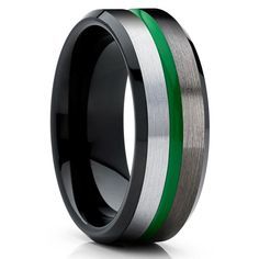 Green Tungsten Wedding Bands | Green Tungsten Wedding Rings – Page 2 – Clean Casting Jewelry Turquoise Color, Bridal Jewelry Sets, Wedding Jewelry, Bridal Accessories, Crystal Jewelry, Gold Jewelry, Nautical Jewelry, Diamond Jewelry, Jewelery