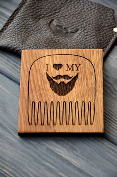 Beard comb. Personalized custom engraved wooden by EnjoyTheWood