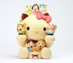 Hello Kitty Japanese Coin Bank: Seven Lucky Gods
