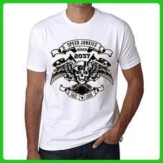 Speed Junkies Since 2037 Men's T-shirt White Birthday Gift - Birthday shirts (*Amazon Partner-Link)