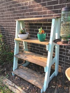 DIY Shelves for my plants! Made only from a pallet! Garden idea DIY Plant shelves Pallet project