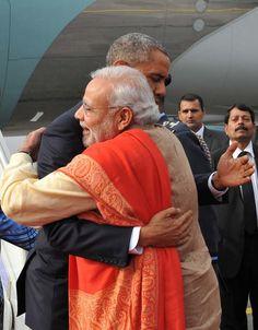 Barack Obama's India trip: PM Narendra Modi breaks with protocol to meet and bear-hug US president at airport  Read more: http://www.bellenews.com/2015/01/25/world/us-news/barack-obamas-india-trip-pm-narendra-modi-breaks-with-protocol-to-meet-and-bear-hug-us-president-at-airport/#ixzz3PosWFupq Follow us: @bellenews on Twitter | bellenewscom on Facebook