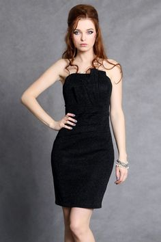 of the shining Crash dress with pleats on the bust with lining - black Latest Fashion Trends, Trendy Fashion, Fashion News, Womens Fashion, Elegant Dresses For Women, Formal Dresses, Base Clothing, Fashion Company, Fashion Addict