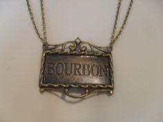 Bronze BOURBAN necklace by HaberdashAndKitsch on Etsy