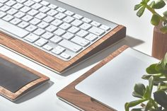 Grovemade Wood Mac keyboard and touchpad holder.