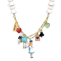 Collection Le Tea Time d'Alice http://shop-n2.lesnereides.com/necklace/3314-alice-the-white-rabbit-and-tea-cups-long-necklace.html