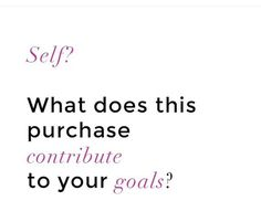 The older i get i ask myself this when i make a large purchase. Who else does this? Click link in bio